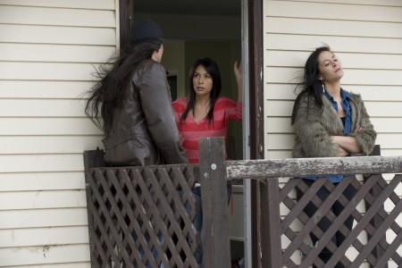 Julian Black Antelope (Darrien), Carmen Moore (Leona), Cheri Maracle (Sarah)